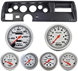 Classic Dash 104701311 Chevelle SS Black Dash Carrier Panel w/ AM Ultra Lite Mechanical Gauges TR
