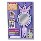 Melissa & Doug Decorate-Your-Own Wooden Princess Mirror Craft Kit