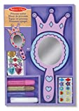 Melissa & Doug Decorate-Your-Own Wooden Princess Mirror Craft Kit