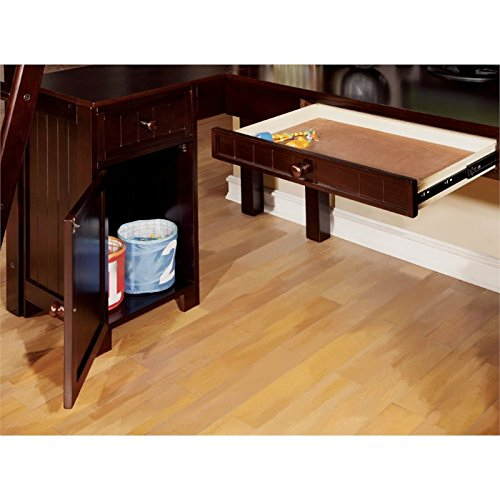 Furniture of America Franklyn Twin Loft Bed with Desk in Espresso