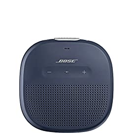 Bose SoundLink Micro, Portable Outdoor Speaker, (Wireless Bluetooth Connectivity), Black 2 Crisp, balanced sound Durable silicone strap Clear and loud outdoors Rugged, waterproof design (IPX7) Up to 6-hour battery life per charge Pair two speakers for Stereo or Party Mode Works with Amazon Echo Dot Access your phone's Siri or your Google Assistant The SoundLink Micro Bluetooth speaker delivers unmatched sound for its size Bose technology makes this little speaker play loud and clear outdoors, thanks to the custom-mounted transducer and passive radiators