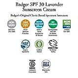 Badger SPF 30 Lavender Sunscreen Cream - 2.9 fl