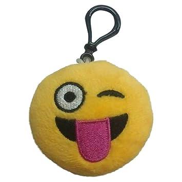 6 cm Cute Amarillo Mini con Forma de Emoticono Suave Peluche ...