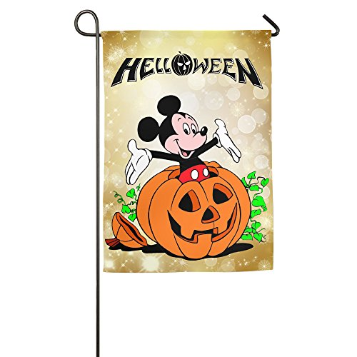 Umison Mouse In Halloween Pumpkin Decorative Garden Flag Classic Bar Flag 1218inch