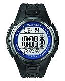 Marathon por Timex reloj tamaño completo, Negro/Azul