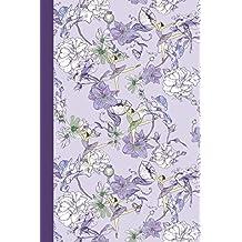 Sketchbook: Flower Dancers (Purple) 6x9 - BLANK JOURNAL NO LINES - unlined, unruled pages (Flowers Sketchbook Series)