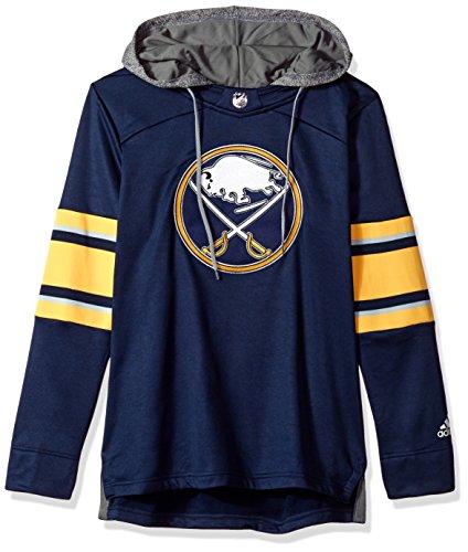 Buffalo Sabres Womens Hoody Sweatshirt - adidas NHL Buffalo Sabres Authentic Crewdie Jersey, Navy, Small