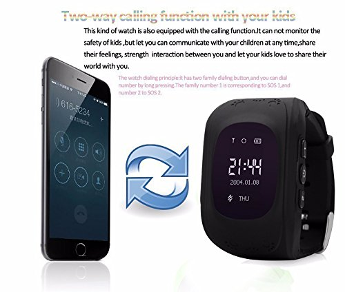 LEMFO Q50 Smart Watch GPS Smartwatch Phone Anti Lost SOS ...