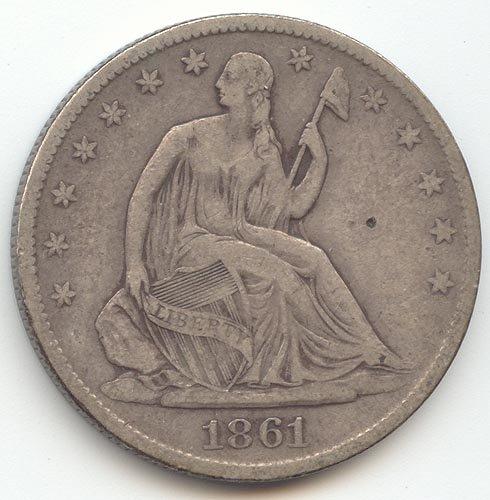 1861 O Seated Liberty Half Dollar Very Fine