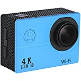 Walmeck Action Camera 4K WiFi Sport Camera Full HD 4X Digital Zoom 2 Inch LCD Screen 170° Wide Angle Lens for Tourist Diving Out-going
