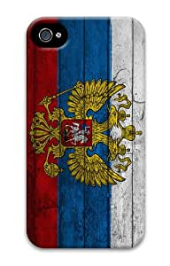 case amazing russia flag double eagle PC Case for iphone 4/4S