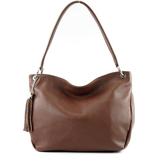 Shoulder Leather Brown Ital T154 Bag Modamoda Genuine Case De ZUHIvq
