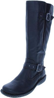 Womens Austin Wide Calf Leather Knee-High Boots b.o.c