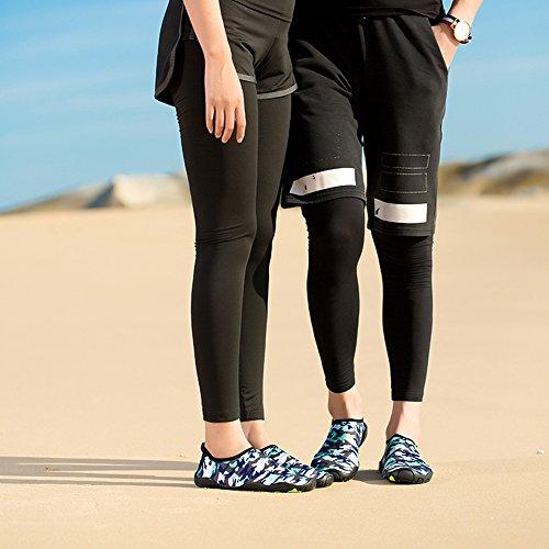 enfant Femme Aquatique Chaussures Nus Léger Sport Surf Chaussures de Plage Yooeen Sport Chaussons Homme de Pour Rapide Aquatiques Séchage Chaussons Pieds Natation Surf Camouflage Poids Yoga ZnAq0HxwY