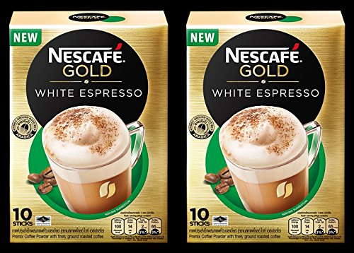 Nescafe Gold White Espresso Instant Coffee 3 in 1 (Pack of 20 Sticks) Intense in body, Dark & Rich with a Lingering Aftertaste. Ship with Tracking - Tracking Rb Number