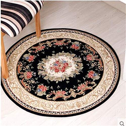 BeesClover Round Carpet Living Room Carpet Swivel Chair Computer Chair Hanging Household Dining Room Bedroom Carpet red 029 90cm Round by BeesClover (Image #5)