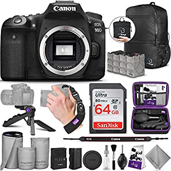 Canon EOS 90D DSLR Camera Body with Altura Photo Advanced Accessory and Travel Bundle