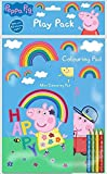 Peppa Pig Play Pack A4 Colouring Book & A5 Pad with Colouring Pencils