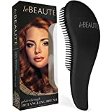 Le Beaute® Detangling Hair Brush - Best Professional Salon Quality Wet & Dry Brush For Tangles w/ No Pain - Great For Thick, Wavy, Curly, or Thin Hair on Women, Girls & Kids
