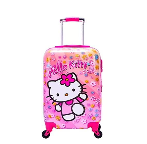 d36d74231 Hello Kitty Kids Trolley Luggage Bag Hard Case Suitcase for Kids Printed Travel  Luggage 18 inches: Amazon.in: Bags, Wallets & Luggage