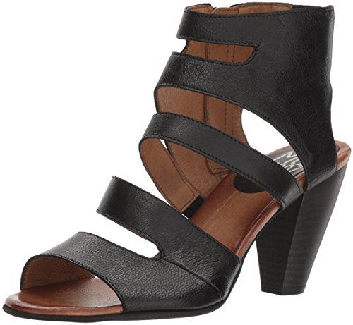 Miz Mooz Women's Melrose Heeled Sandal, Black, 38 by Miz Mooz