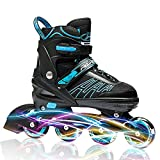 #7: IUU Sports Adjustable Inline Skates for Kids and Adults, Rollerblades with Featuring All Illuminating Wheels, for Girls and Boys, Men and Ladies