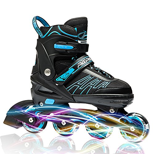 Check Out This IUU Sports Adjustable Inline Skates for Kids and Adults, Rollerblades with Featuring ...