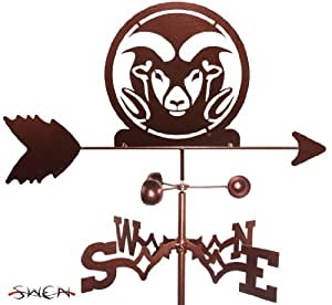 Hand Made COLORADO STATE RAMS GARDEN Stake Weathervane ~NEW~