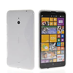 MINOKEYA [Clear] Silicone Case for Nokia Lumia 1320 Beautiful Lines Texture Soft Gel Back Cover Clear