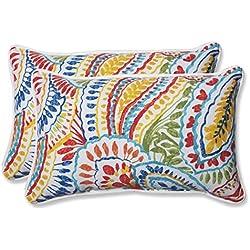Pillow Perfect Outdoor Ummi Rectangular Throw Pillow, Multicolored, Set of 2