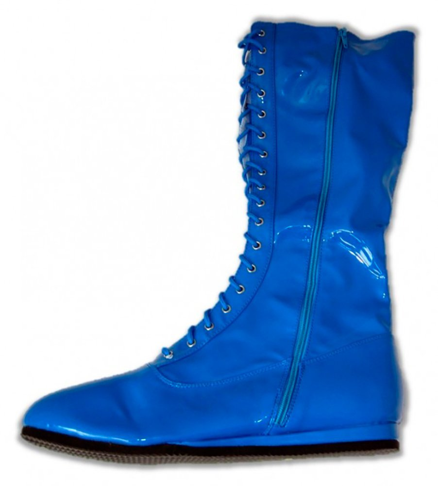 Pro Wrestling Costume Boots (Small, Blue) by Wrestling