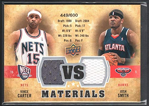 BIGBOYD SPORTS CARDS Vince Carter Josh Smith 2009/10 Upper Deck VS Dual Game Jersey 449/600 ()