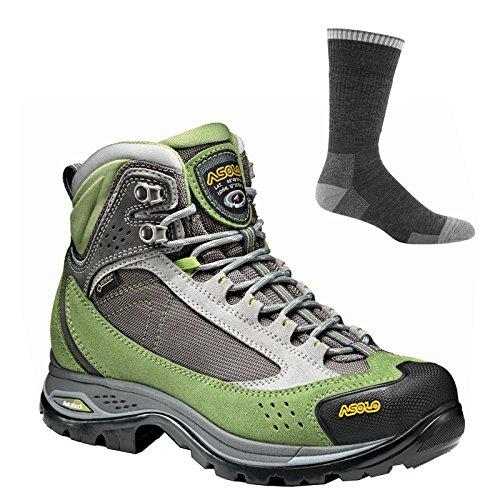 Asolo Women's Nilas Gv Hiking Boots English Ivy/Silver w/Socks -