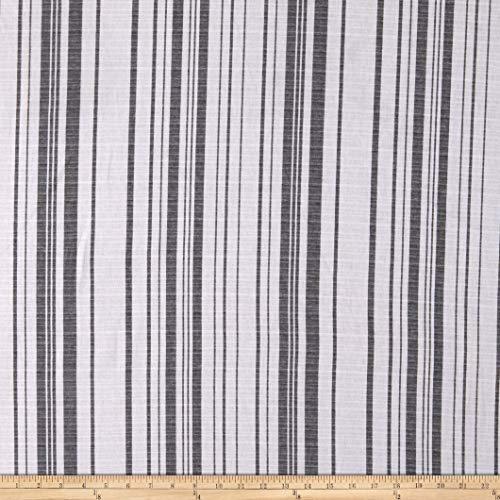 Yarn Dye Stripe Cotton Black/White Fabric by the Yard ()