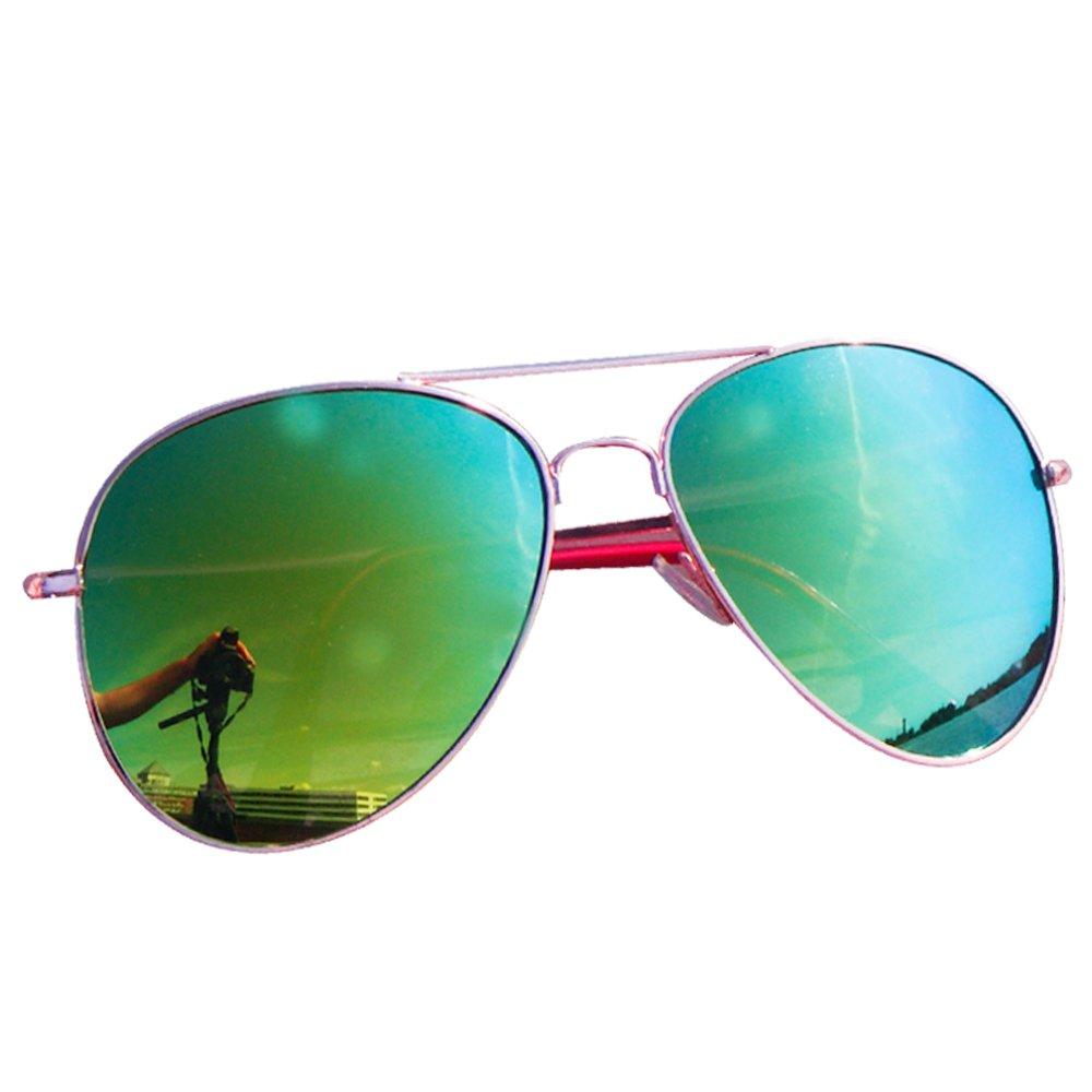 easy4fashion myfashionist 2 Stück Pilotenbrille Aviatorbrille Portobrille Sonnenbrille Brille verspiegelt (Silber+Schwarz) uUtlHK