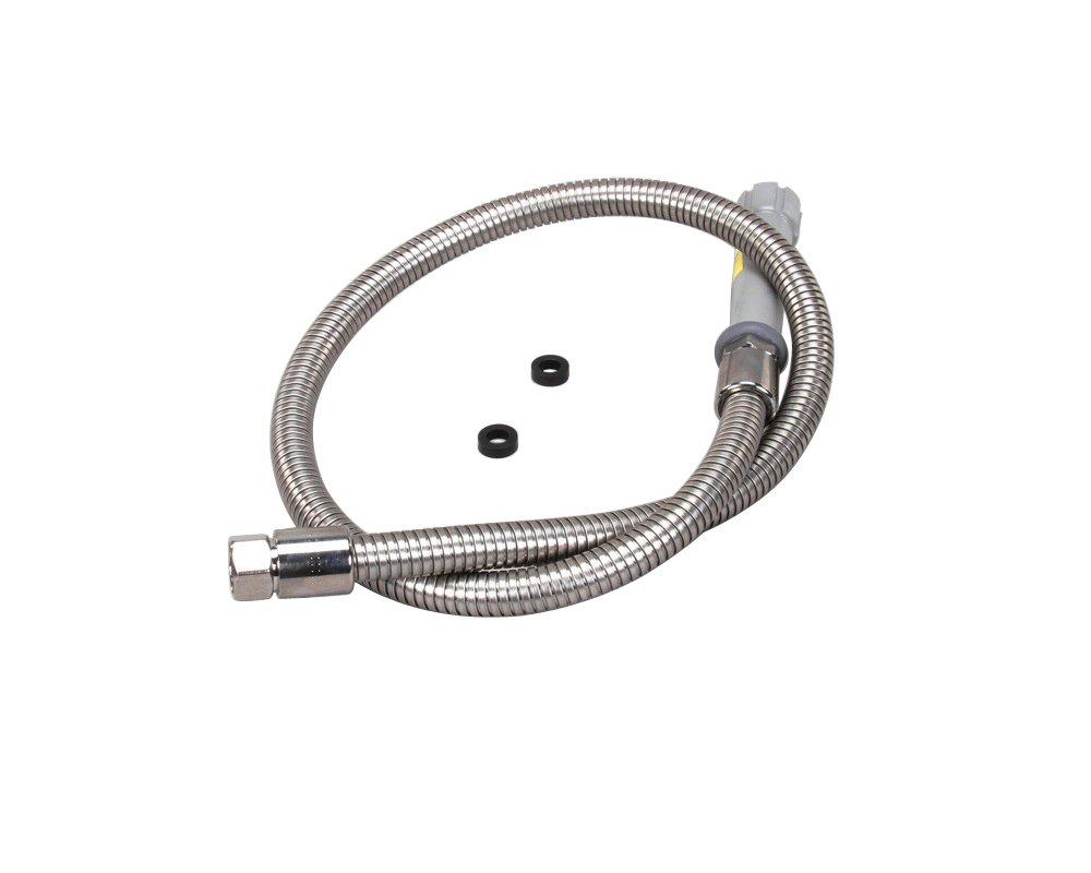 T&S BRASS B-0044-H 44'' Flexible Stainless Steel Hose