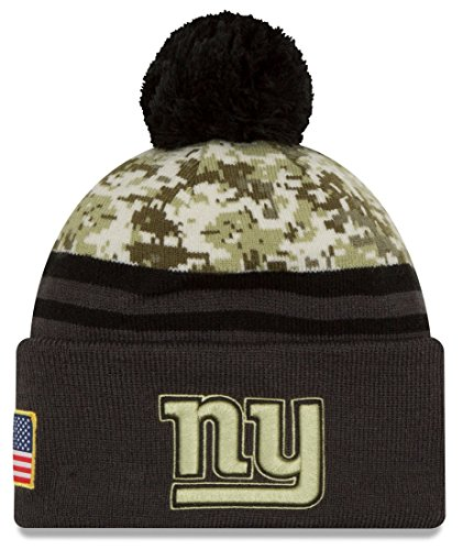 New Era Men's NFL New York Giants 16 Salute to Service Knit Hat Camo Size One Size