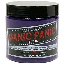 Manic Panic Semi-Permament Haircolor Ultra Violet 4oz Jar