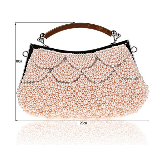 Fashion Bag Bridal White Bags GSHGA Bags Evening Dress Handbags Clutch New Pink Bridesmaids Party Bags Beads Bags qwA6Ft