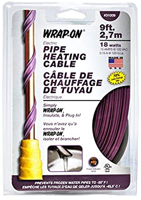 Wrap-On 31006 6' Pipe Heating Cable 12 Watts
