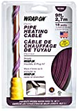 WRAP-ON Pipe Heating Cable - 9-Feet, 120 Volt, Built-in Thermostat, Low Wattage - 31009