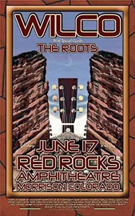 wilco red rocks denver concert poster 2006 mint at amazon 39 s entertainment collectibles store. Black Bedroom Furniture Sets. Home Design Ideas
