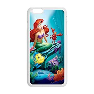 Mermaid Under Sea Cartoon White Phone Case for iPhone plus 6