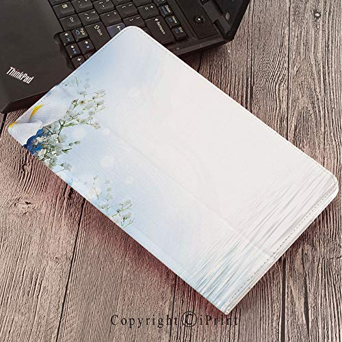 Dreamy Hydrangea (Samsung Tab S3 9.7 SM-T820 SM-T825 Tablet Case Protective Cover Crystal Case,Light Blue,Blue Hydrangeas and White Irises Over The Sea Romantic Bouquet Dreamy,Blue Light Blue White)