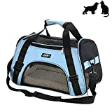 Soft-Sided Small Pet Carrier, Low Profile Travel Tote with Cozy and Soft Dog Bed, Portable, Collapsible, Airline Approved, Travel Friendly, Perfact for Small Dogs, Cats, Puppies, Kittens, Pet