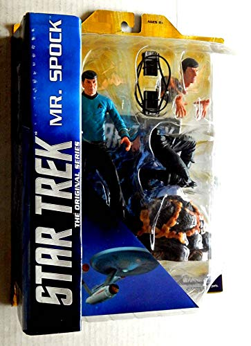 Star Trek The Original Series Mr. Spock Action Figure Set - Diamond Select Toys - Factory-Sealed Uncirculated 7 Inch Tall Action Figure Plus Accessories. This Is For One Action Gigure Set Only (Entertainment Select Series)