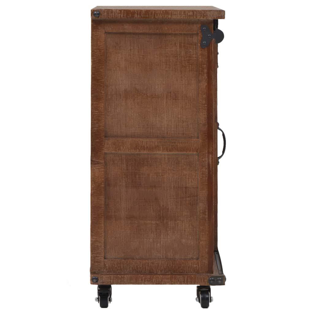 vidaXL Mueble de Almacenaje Madera Maciza Abeto 64x33.5x75cm Marrón Mobiliario: Amazon.es: Hogar