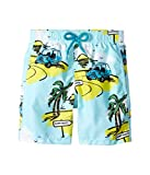 Vilebrequin Kids Baby Boy's Mini Make Swim Trunk (Toddler/Little Kids/Big Kids) Blue Swimsuit Bottoms