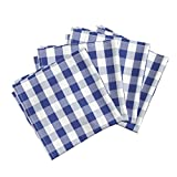 Roostery Florida Gators University Sports Football Colleges Gingham Organic Sateen Dinner Napkins Gingham Florida Orange and by Charlottewinter Set of 4 Dinner Napkins