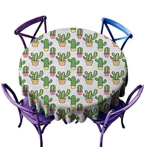 - familytaste Cactus,Round Tablecloth D 70